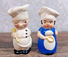Vintage Goebel Germany Girl Baker & Boy Chef Salt and Pepper Shakers
