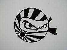 2 x Ninja Rising Sun Decals - Vinyl Sticker JDM Euro Jap Car Window VW Dub VAG