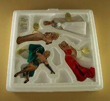 THE GLAMOROUS MISS MARILYN MONROE Porcelain Ornament Set of 4 MIB + COA #2