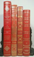 1949~Vintage RED GOLD 4 Book Lot~Old Decorative Set~WUTHERING HEIGHTS~TOM SAWYER