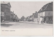 Hampshire postcard WEST STREET, ALRESFORD early 1900's