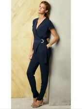Bnwt �� Next ��Size 20 Long Navy Blue D Ring Wrap Jumpsuit Tapered Evening New