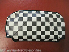 VESPA PX 125 REAR BACKREST CARRIER RACK CHECKERED PAD FOR FACO CUPPINI CARRIERS