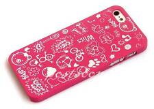 Kolorfish Premium Very Cute Back Case Cover For iPhone 5 5S,-I Love --Hot Pink
