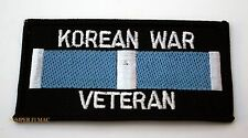 KOREAN WAR VETERAN PATCH MILITARY SERVICE RIBBON US ARMY NAVY MARINE AIR FORCE