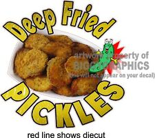 """12"""" X 12""""  DEEP FRIED PICKLES  NEW VINYL DECAL FULL COLOR GRAPHIC"""