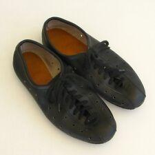 Ancienne Paire de chaussures cycliste cuir vintage noir - Pointure 38/39