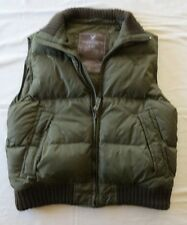 AMERICAN EAGLE OUTFITTERS Down Puffer VEST Jacket Green Mens L Large Vtg