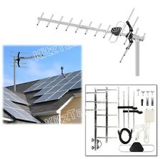 HD TV Digital Outdoor Amplified Antenna High Performance UHF w/ Power Supply Box