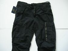 POLO RALPH LAUREN Men's Black Straight-Fit Military Field Cargo Pants 36x30