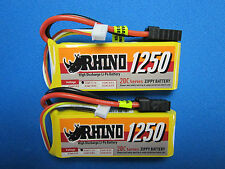 2 Rhino 1250mah 3S 11.1 Lipo TRX Traxxas Mini 1/16 VXL E-Revo Slash Rally Summit