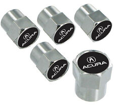Acura Logo And Wordmark Chrome Valve Stem Caps 5 Caps
