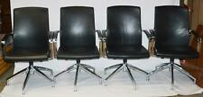A Set of 4 German König+Neurath Swivel Reception Conference Chairs  [PL2226]