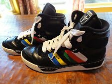 ULTRA RARE Vintage OLYMPIC COLORS TORCH ADIDAS CONDUCTOR Basketball shoes US 11