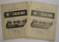 Two Copies FU-40 25-40 Watt Transmitter-Exciter 10 Page Instruction Manuals