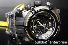 Mens Invicta Reserve Bolt Zeus Black Gold Tone Chronograph Swiss Made Watch New