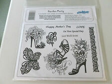 New - Unmounted Rubber Stamp Plate - Garden Party - 10 Stamps