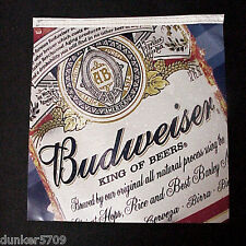 "1 TWO SIDED HANGING PENNANT BUD LIGHT BUDWEISER 11 1/2"" X 12 1/4"" UNUSED"