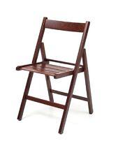 4x sedia in legno di faggio pieghevole di colore wenge' da giardino