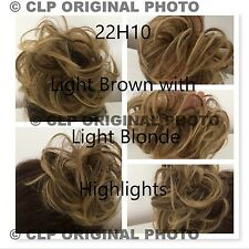 Hair Scrunchie Bun Hairpiece, Elastic, Synthetic, Natural Look Hair Extention