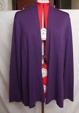 Eileen Fisher  Womens Purple Open Front Wool Cardigan Sweater Size 2XL