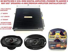 "Pioneer TS-A6995R 5 Way 6x9"" Speakers+CedarsLink Mini Digital Amplifier+Amp Kit"