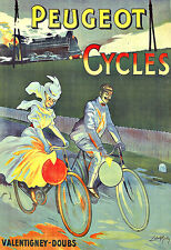 Art Ad Peugeot Cycles Bicycle Bike  Deco Poster Print