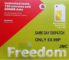 VODA Phone UK PAY AS YOU GO Sim Card