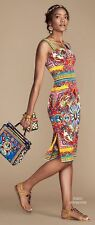 Dolce & Gabbana Sleeveless Carretto-Print Dress, Orig:$2495 + tax  42IT/8US