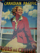 """Canadian Pacific Tours and Cruises Canadian Travel Advert. Poster Canvas 29""""x19"""""""