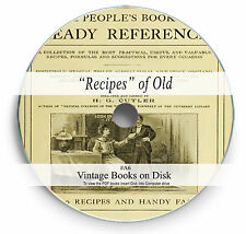 Rare Vintage Books on DVD - Secret Recipes Formulas Home Cures Household Tips A6