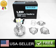 1X H4 H6 BA20D LED White 25W 6000K 2500LM COB Car Motorcycle Headlight Bulb Lamp