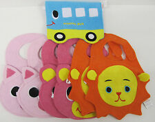 Baby Girls Bibs Wholesale Lot Pink blue orange Cute quantity 7 new Terry Cloth k