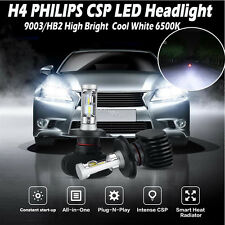 H4 9003 HB2 Philips 180W 18000LM LED Headlight Hi-Lo Beam Bulbs Kit High Bright