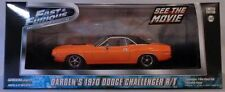 GREENLIGHT 1:43 SCALE DIECAST METAL FAST AND FURIOUS ORANGE 1970 CHALLENGER R/T