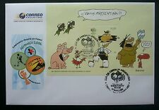 Argentina Germany FIFA World Cup 2006 Football Games Cartoons Dog Pig Bird (FDC)