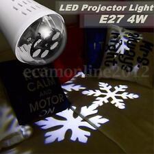 E27 4W LED Lampe Lumière Projecteur Flocon de Neige Noël Cadeau Maison Décor
