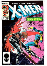 X-MEN #201 9.2 OFF-WHITE TO WHITE PAGES COPPER AGE 1ST CABLE BABY