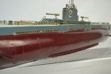 ITO JAPANESE WOODEN TOY SUBMARINE, BATTERY OP, 1950'S
