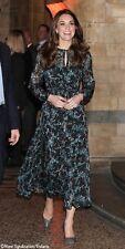 New LK Bennett Cersei Evergreen Velvet Floral Print Dress ASO Royal 6, 8, 10