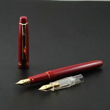 2016 Fresh Model Wing Sung 659 Red Fountain Pen With 2 Nibs With Plastic Box