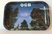 "OCB Rolling papers ""MILKY WAY"" Metal Cigarette ROLLING TRAY 7""x11"" MEDIUM SIZE"