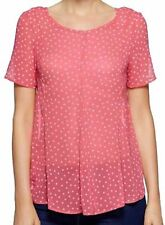 NEXT LADIES RED STAR SWING CHIFFON TOP BLOUSE SIZE 8 PETITE RRP £25 BNWT