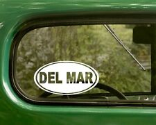 2 Oval Del Mar California Decal Sticker, Bumper, Cars, Laptop
