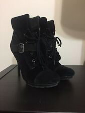 Guess Ankle Boots Heels Suede Size 7