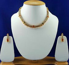 Pearl Bridal Jewellery Choker Necklace Gold Set Free Shipping Earring Sets SSC50