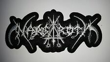 NARGAROTH   SHAPED   WHITE  LOGO   EMBROIDERED PATCH