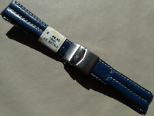 France Navy Blue Water Resistant Buffalo 18mm Watch Band Deployment Clasp $49.95