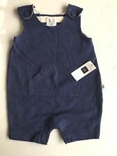 New Baby Gap 0 3 Months boys Overall One Piece Romper Blue