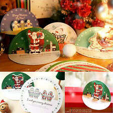 Pack Of 10 Sets 3D Christmas Santa Claus Greeting Gift Boxes Cards & Envelope